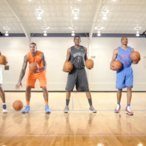NBA Superstars Dribble Out a Christmas Carol in Goodby Spot