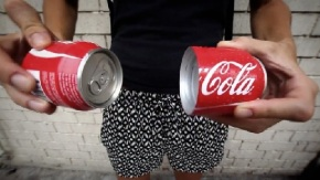 Coca-Cola's New Can Splits in Half So You Can Really Share the Happiness