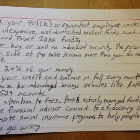 This 4×6 Index Card Has All The Financial Advice You'll Ever Need