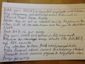 9.18.13 Financial Advice