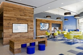 The Doctor's Office Of The Future: Coffeeshop, Apple Store, And FitnessCenter