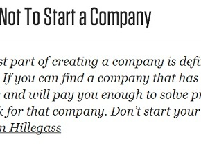 Don't Start a Company,Kid