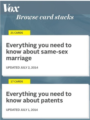 #TheInformationAge Tool of the Day: Vox CardStacks